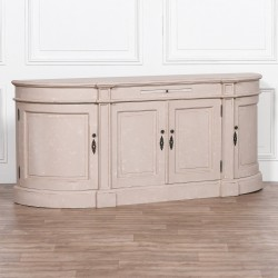 Distressed Curved Sideboard