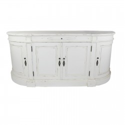 Distressed White Large Buffet Sideboard