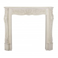 Aged Ivory Carved Fire Surround