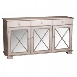Oriental Ornate Antique Silver Sideboard