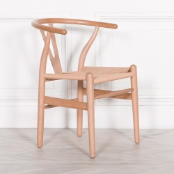 Wishbone Natural Wooden Dining Chair