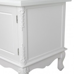 French White Large Cabinet TV Unit