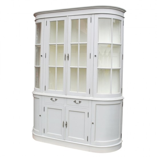 Large Grey Dresser Display Cabinet