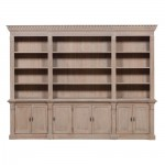 Extra Large Wooden Triple Bookcase