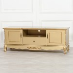 French Antique Gold Large Cabinet TV Unit