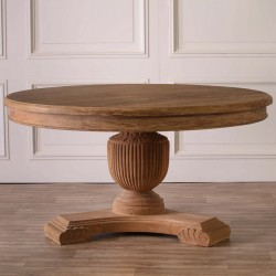 150cm Rustic Round Dining Table
