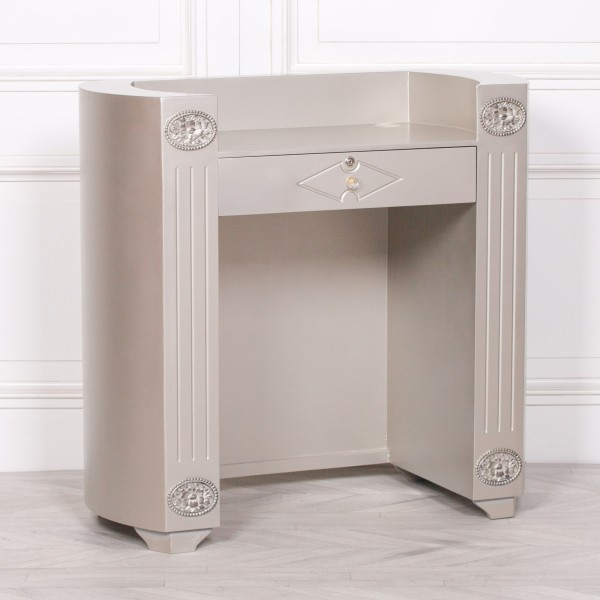 Silver Reception Desk